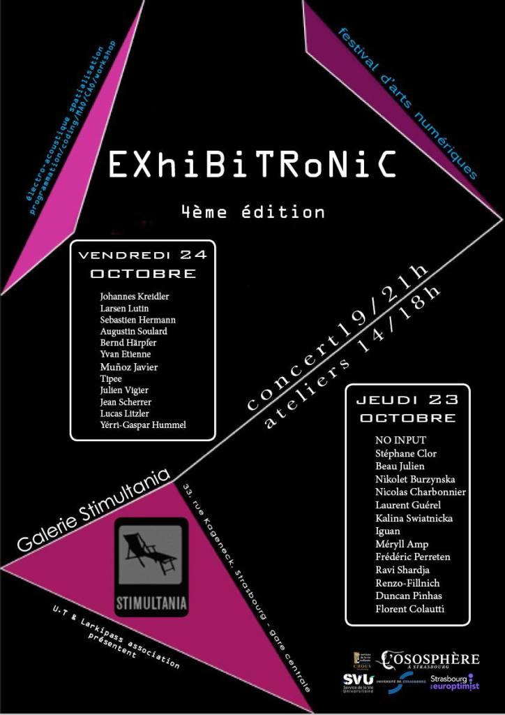 Festival EXHIBITRONIC 4 / Galerie StimultaniaStrasbourg